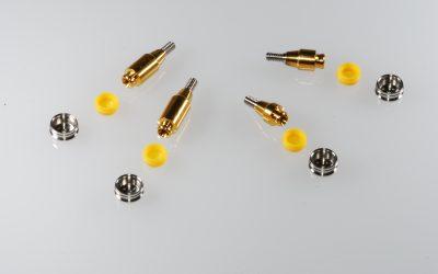 Protesi superiore ed inferiore su componentistica RHEIN83